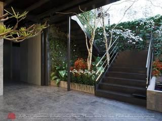 Thiết kế nội thất quán Ecopark Saigon Coffee & Restaurant Thiết Kế Nội Thất - ARTBOX Cầu thang