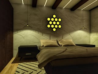 DSR WHITE WATER's Apartment Interiors @Bengaluru: asian  by MARCH STUDIO,Asian