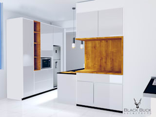 Interior Design:  Built-in kitchens by Blackbuck Architects,