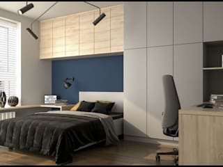 GACKOWSKA DESIGN Small bedroom Blue