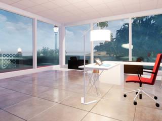 Oficinas de estilo  por 盧博士虛擬實境設計工坊, Tropical