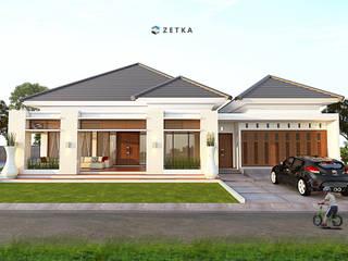 "AMAT MITRA HOUSE "" PANGKALANBUN "": Rumah tinggal  oleh zetka arsitek, Minimalis"