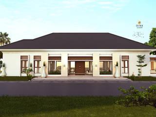 """AMAT MITRA HOUSE """" PANGKALANBUN """": Rumah keluarga besar oleh zetka arsitek, Minimalis"""