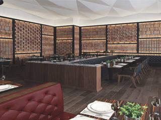 Restaurante Italiano de AAVE Diseño y Construcción Moderno