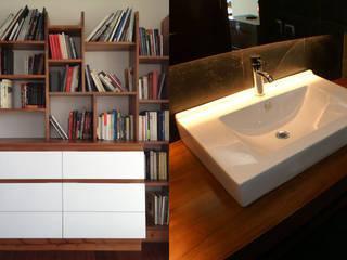 Departamento en Las Condes, Santiago.: Baños de estilo  por CONSTRUCTORA DHTC LIMITADA, Moderno
