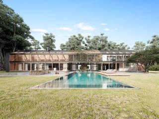 Haras San Pablo Casas modernas: Ideas, imágenes y decoración de T + T arquitectos Moderno