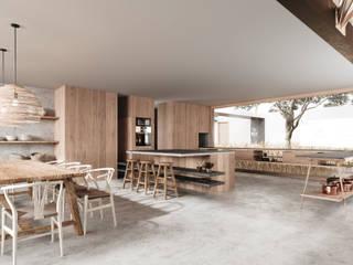 Casas de estilo moderno de T + T arquitectos Moderno