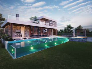 Pool by T + T arquitectos, Modern