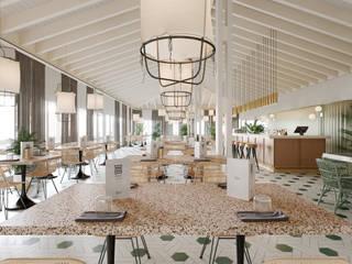 Restaurante La Cantera Gastronomía de estilo moderno de T + T arquitectos Moderno