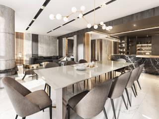 Torre Deco Livings modernos: Ideas, imágenes y decoración de T + T arquitectos Moderno