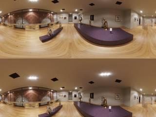 Rendering VR sala espositiva per progetto di ristrutturazione di Stefano Mimmocchi Rendering Moderno