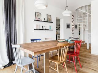 Dom jednorodzinny w Redzie Skandynawska jadalnia od Front Side Studio Skandynawski