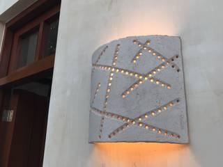 Lámparas de pared Takto Design Vestíbulos, pasillos y escalerasIluminación Cerámica Blanco