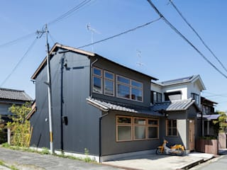 透き間の家 山本嘉寛建築設計事務所 YYAA 狭小住宅 鉄/鋼 黒色