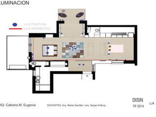 Vivienda unifamiliar: Livings de estilo  por espacio interior,