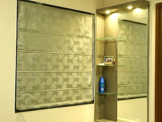 Aparna Cyberlife:  Dressing room by Meticular Interiors LLP,