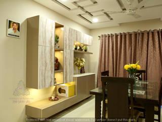 Aparna Cyberlife Modern dining room by Meticular Interiors LLP Modern
