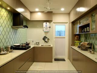 Aparna Cyberlife Modern kitchen by Meticular Interiors LLP Modern
