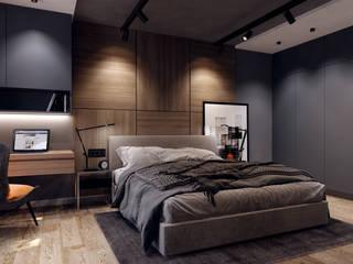 Minimalistische Schlafzimmer von Творческая мастерская Твердый Знак Minimalistisch
