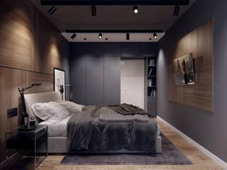 Dormitorios de estilo  por Творческая мастерская Твердый Знак, Minimalista