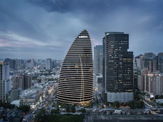 National Trade Center Asian style study/office by Architecture by Aedas Asian
