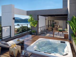 Aruna Resort - Bona Studio 3D Bona Studio 3D Varandas, alpendres e terraços tropicais