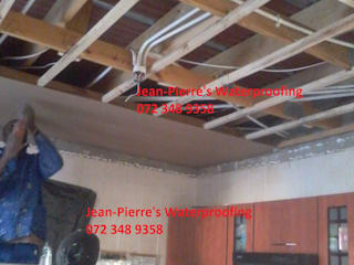 Rhinolite ceiling repair by Jean-Pierre's Waterproofing