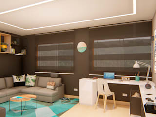 INTERIOR 25G / VIÑA SAN REMO Estudios y despachos de estilo moderno de CRECE ARQUITECTURA SAS Moderno