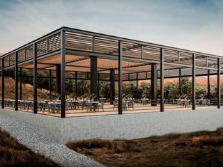 Terraza para eventos Locaciones para eventos de estilo minimalista de HC Arquitecto Minimalista Hierro/Acero