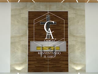 Iglesia Nuestra Señora de Guadalupe Centros de exposiciones de estilo moderno de CADICZA   Arquitectos Moderno