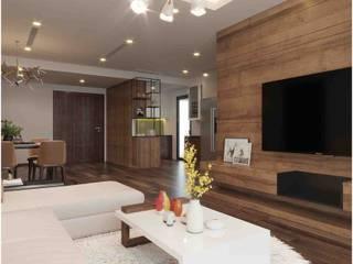 Thiết kế nội thất chung cư N01-T8 khu Ngoại Giao Đoàn Thiết Kế Nội Thất - ARTBOX Living roomLighting