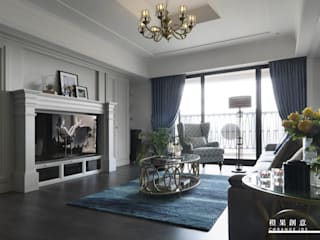 橙果創意國際設計 Klassische Wohnzimmer