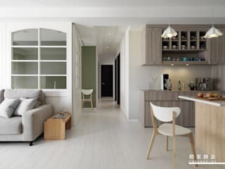 橙果創意國際設計 Wohnzimmer im Landhausstil