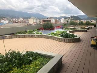 Cubierta Verde Explorer Folia - Arquitectura y Diseño del Paisaje Jardines de estilo moderno
