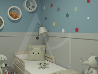 Anny Maciel Interiores - Casa Cor de Riso Boys Bedroom Wood Blue