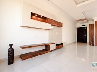 The TV Unit finished in Laminate Modern living room by U and I Designs Modern
