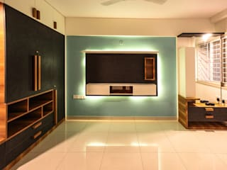 Night View of the Master Bedroom Modern style bedroom by U and I Designs Modern
