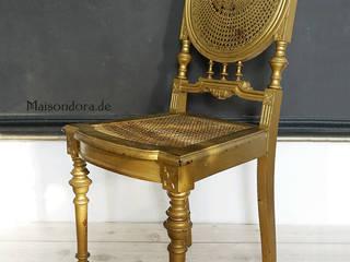 Maisondora Vintage Living VestidoresAsientos Madera Ámbar/Dorado