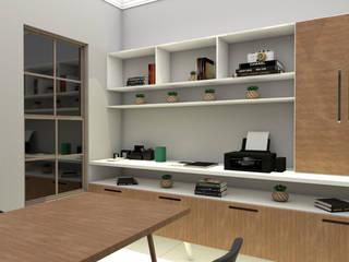 Escritório Escritórios modernos por Shara Andreas Arquiteta Moderno