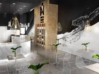 Diseño de restaurante Espacios comerciales de estilo moderno de Yellow Studio 27 Moderno