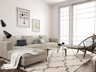 Diseño interior de apartamento Salones de estilo mediterráneo de Yellow Studio 27 Mediterráneo