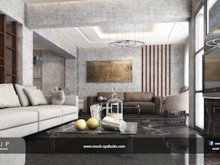 Salas de estar modernas por Mockup studio Moderno
