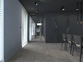 dom//300m2 Minimalistyczny korytarz, przedpokój i schody od TOTAMSTUDIO pracownia architektury wnętrz Minimalistyczny