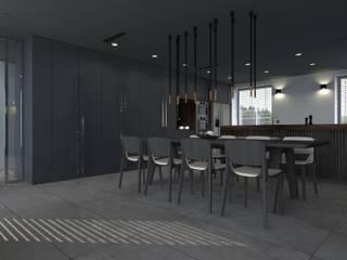 dom//300m2 Minimalistyczna jadalnia od TOTAMSTUDIO pracownia architektury wnętrz Minimalistyczny