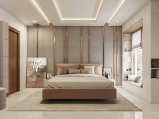 Bangalore-3bhk home  Interior :  Bedroom by De Panache ,Classic