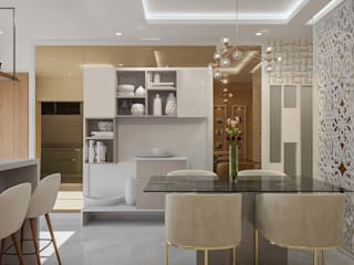 Bangalore-3bhk home  Interior :  Dining room by De Panache ,Modern