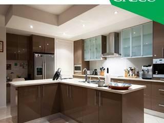 Buy any Modular Kitchen, Get one Chomney . HOB Free: modern  by Greco Modular Kitchen,Modern