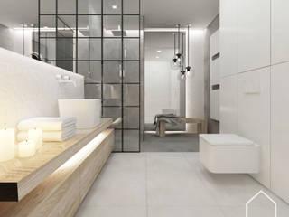 Mieszkanie pod Krakowem Skandynawska łazienka od Wnetrza od NOWA Skandynawski