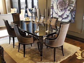 Beauty and Luxury: Dining Room Set by KA Furniture:   by Luxury Antonovich Design,