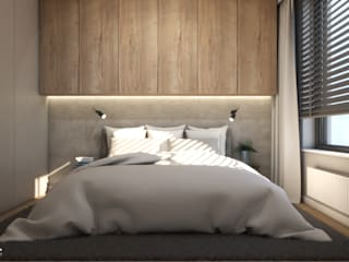 Sypialnia Nowoczesna sypialnia od MINIMAL. Nowoczesny